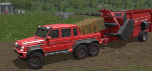 Мод авто G65 AMG 6X6 V1.0 Farming Simulator 2017