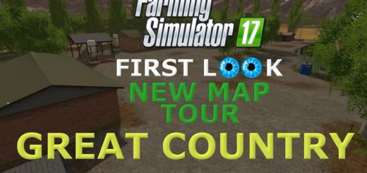 Мод карта Great Country V 1.3 RUS Farming Simulator 2017