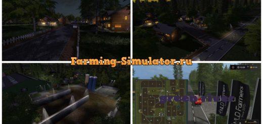 Мод карта GreenRiver 2017 V2.0.0.2 Farming Simulator 2017