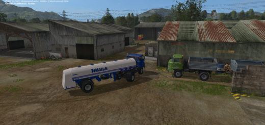 Мод прицеп HLS100.45 MILCHAUFLIEGER V1.0 Farming Simulator 17