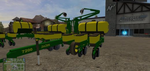 Мод сеялка JOHN DEERE 12 ROW SEEDER V1.0 Farming Simulator 17