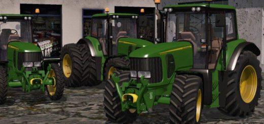 Мод трактор John Deere 6330 v 1.1 Farming Simulator 17