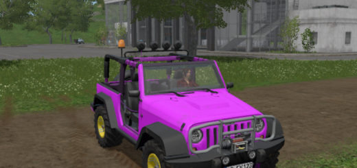 Мод Jeep Wrangler v 1.0 Farming Simulator 17