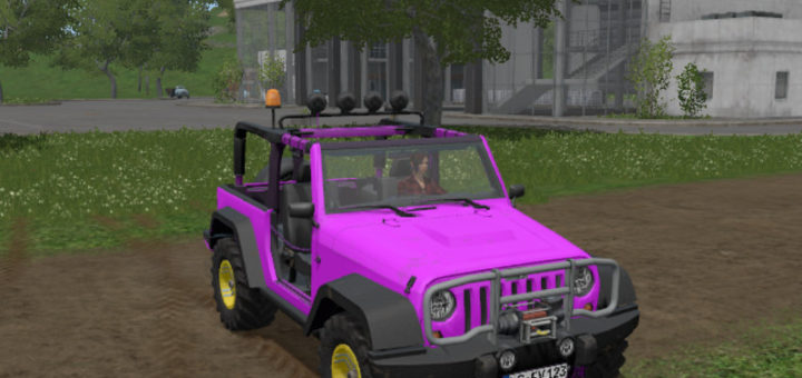 Мод Jeep Wrangler v 1.0 Farming Simulator 17