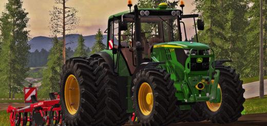 Мод трактор John Deere 6M Series (6115M, 6135M, 6155M) v 1.2 Farming Simulator 2017