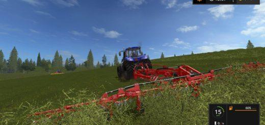 Мод сеноворошилка Lely Lotus 1250 PROFI 1.0.0.3 Farming Simulator 2017