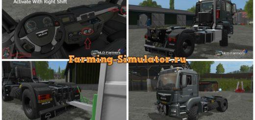 Мод тягач MAN TGS 18480 v 2.1 Farming Simulator 17