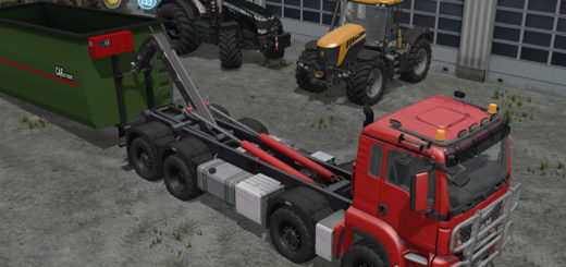 Мод грузовик MAN TGS 8x8 with HVAC System v 3.0 Farming Simulator 17