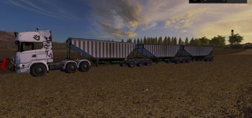 Мод прицеп MBJ Semi-trailer v 1.0 Farming Simulator 17