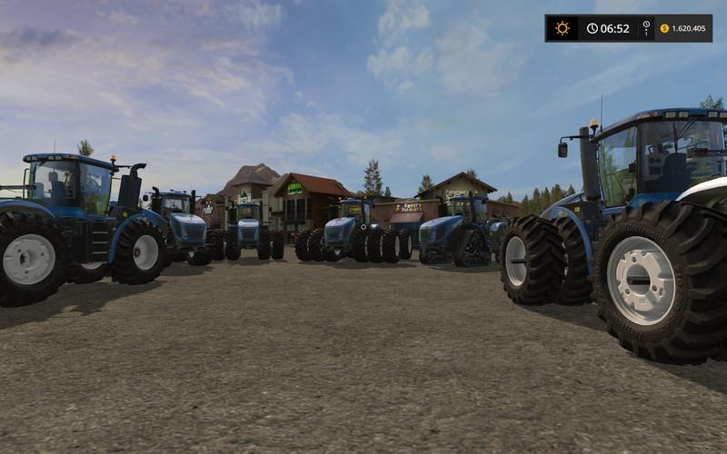Мод трактор New Holland T9.450 v 2.0 Farming Simulator 17