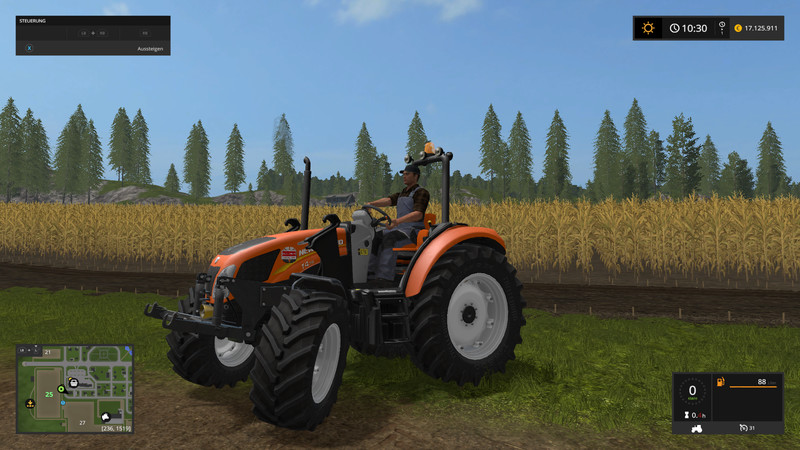 Мод трактор New Holland T4 Kommunal v 2.5 Farming Simulator 17