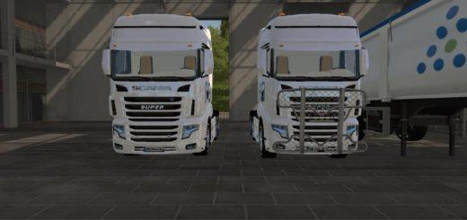 Мод тягач Scania AB texel v 1.0 Farming Simulator 17