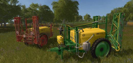 Мод опрыскиватель Unia Pilmet REX 2518 v1.0 Farming Simulator 17