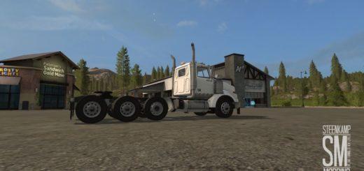 Мод Western Star 4900 Steerable Tri Axle v 1.0 Farming Simulator 17