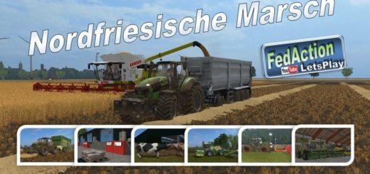 Мод карта FRISIAN MARCH V2.3 Farming Simulator 17