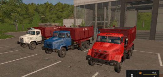 Мод грузовик КрАЗ-65055 Фарминг Симулятор 2017