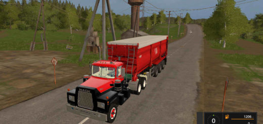 Мод тягач Mack R600 1977 Farming Simulator 2017