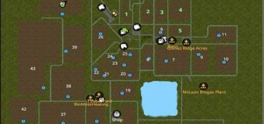 Мод карта THORNHILL FARM V1.0.0 Farming Simulator 17