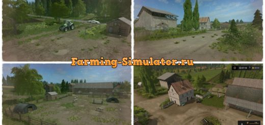 Мод карта Three Star Hof v2.0 Dreiste Hof plus FS17