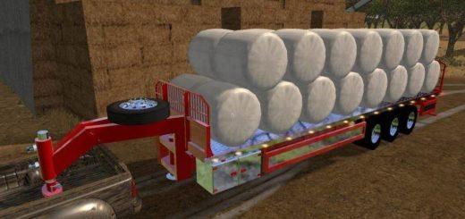 Мод прицеп BaleMaster AutoLoad Gooseneck v1.1 Farming Simulator 2017