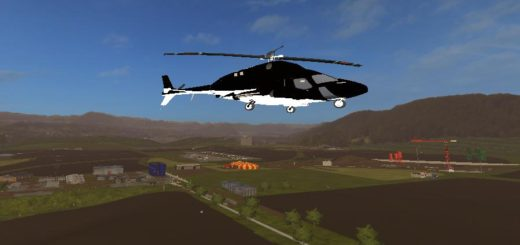 Мод вертолет Airwolf Supercopter версия 1.0.0.0 FS17