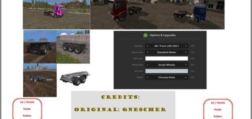Мод грузовик AR/FRAME Truck & Trailer Pack v 1.1 Farming Simulator 2017