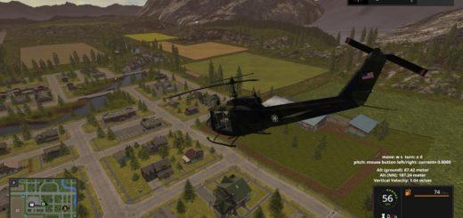 Мод вертолет Bell UH1D v1.0 Farming Simulator 2017
