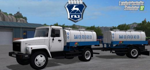 Мод грузовик ГАЗ 3309 и Г6-ОТА-4.2 Фарминг Симулятор 2017
