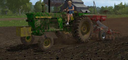 Мод трактор John Deere 4020 Diesel v 1.0 Farming Simulator 17