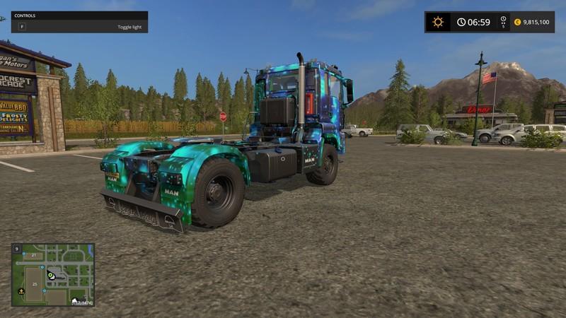 Мод тягач Man A.Helmer B.V. TGS 18480 Cameleon v 1.0 Farming Simulator 2017
