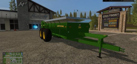 Мод прицеп John Deere Manure Spreaders 1.0 Farming Simulator 2017