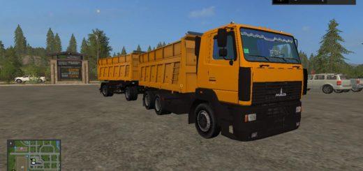Мод грузовик МАЗ 6501 v1.0 Фермер Симулятор 2017