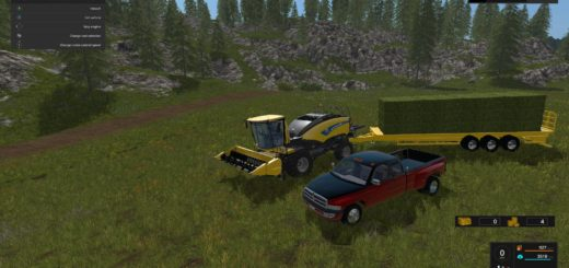 Мод тюкопресс NEW HOLLAND POWER BALER V1 Farming Simulator 2017