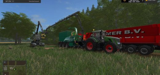 Мод щеподробилки NLD Woodchipper Beta v 1.0 Farming Simulator 17