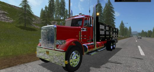Мод грузовик Peterbilt 388 Stake Bed v 1.0.0.0 Farming Simulator 2017