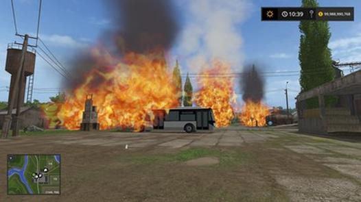 Мод Placeable Fire v 1.0 Farming Simulator 17