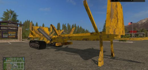 Мод прицеп Wood Slasher Tracked v 1.2 Farming Simulator 2017