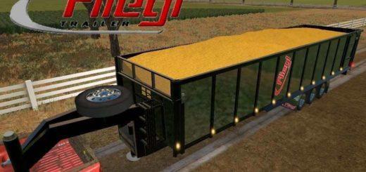 Мод прицеп Fliegl Gooseneck Tipper v1.1 Farming Simulator 17