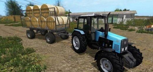 Мод прицеп HW80 Strohwagen UAL v 1.0 Farming Simulator 17