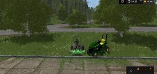 Мод John Deere 3520 and Zero Turn v 1.0 Farming Simulator 17