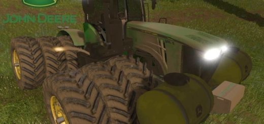 Мод трактор John Deere 9R v2.0 Farming Simulator 17