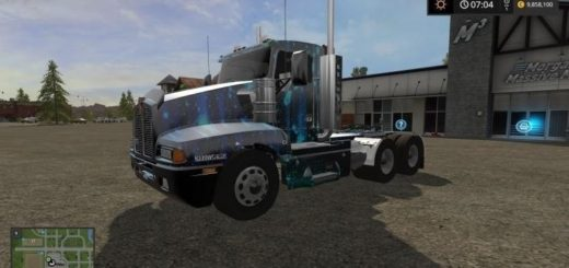 Мод тягач Kenworth T600 Neon Farming Simulator 2017