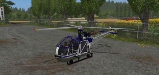 Мод вертолет Robin DR 400 v 1.0 Farming Simulator 17