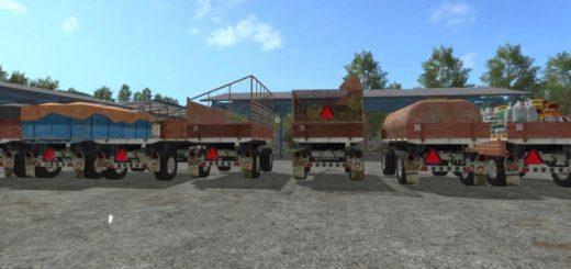Мод ПАК прицепов BSS P93S V5.0 Farming Simulator 17