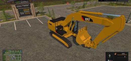 Мод экскаватор Caterpillar 329E v 1.0 Farming Simulator 17
