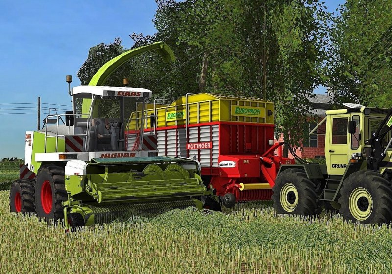 Мод комбайн Claas Jaguar 880 Farming Simulator 2017
