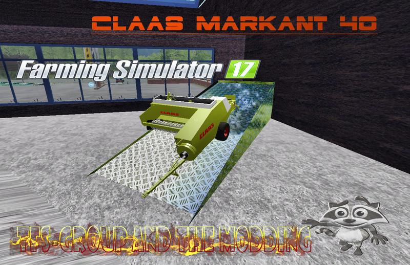 Мод тюкопресс CLAAS MARKANT 40 v 1.1 Farming Simulator 2017