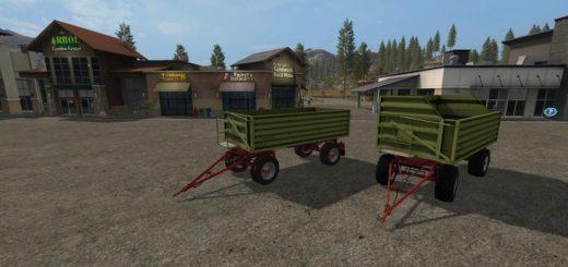 Мод прицеп HW80 CONOW V1.0.0.0 Farming Simulator 2017