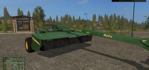 Мод сенокосилка JOHN DEERE MOCO MOWER V1.0 Farming Simulator 2017