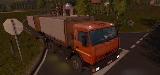 Мод грузовик КамАЗ 43255С Фермер Симулятор 2017